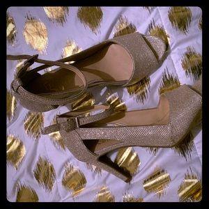 Glitter heels Size 7 1/2